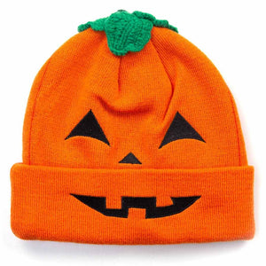 HidLids Pumpkin Knit Beanie Hat | Adult