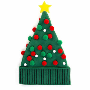 HidLids Christmas Tree Knit Beanie Hat | Adult