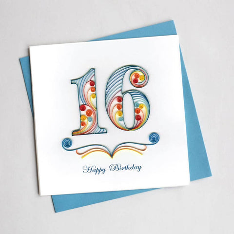Quilling Card 16th Birthday