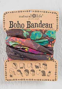 Natural Life Boho Bandeau Brown Floral