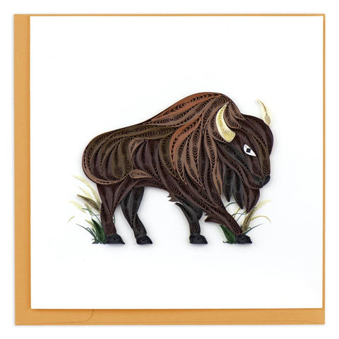Quilling Card Bison