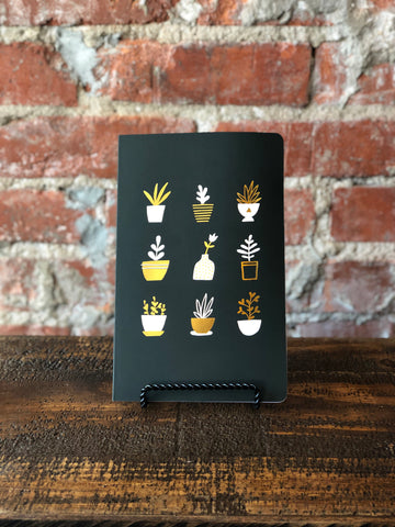 Denik Lined Notebook Gold Plants, Denik - The Olive Branch