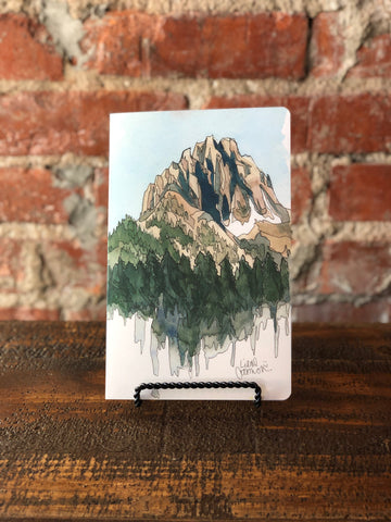 Denik Lined Notebook Drawing Mountains, Denik - The Olive Branch