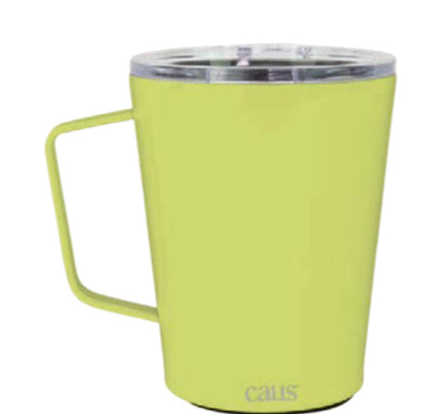 CAUS LimeLight Coffee Tumbler w/handle