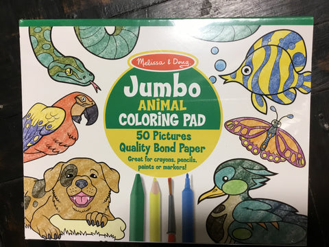 Jumbo Coloring Pad-Animals, Melissa & Doug - The Olive Branch