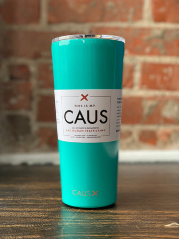 CAUS Large Tumbler Teal, CAUS - The Olive Branch