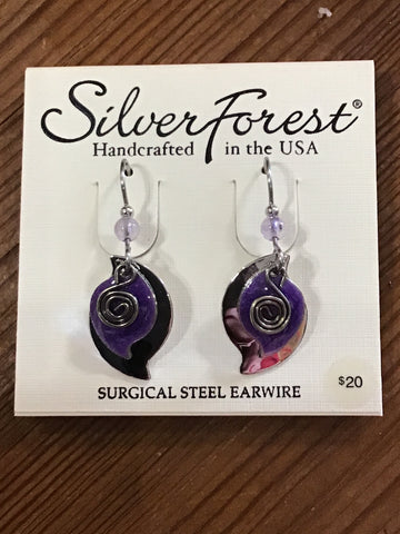 Silver Forest Earrings 0068A