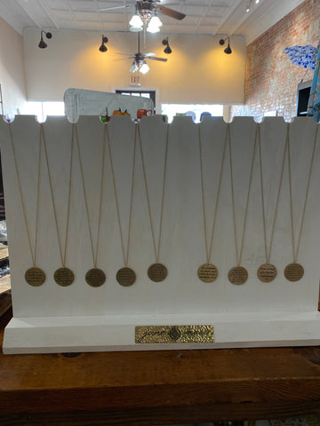 Jane Marie Gold Disk Necklaces