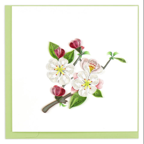 Quilling Card Apple Blossom