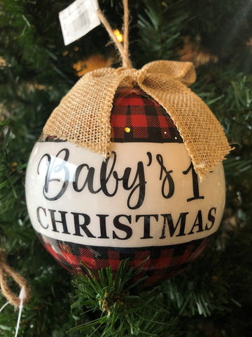 Burton & Burton Baby's 1st Christmas Large Ornament
