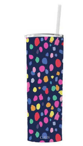 CAUS It's Party Time Skinny Tumbler