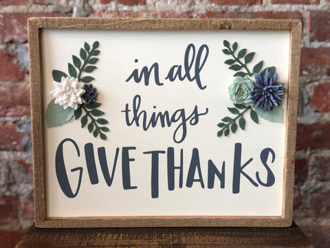 Primitives Give Thanks Box Sign