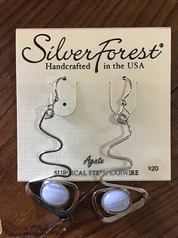 Silver Forest Earrings 23078