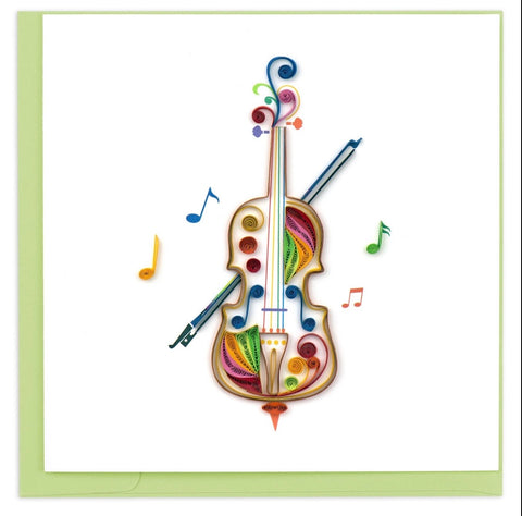 Quilling Card Cello