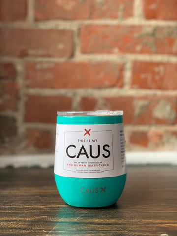 CAUS Stainless Drink Tumbler Teal, CAUS - The Olive Branch