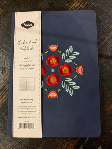 Denik Samantha and Evelynn Embroidered Notebook