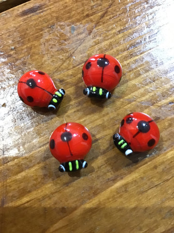 Glass Little Lady Bugs, Ganz - The Olive Branch