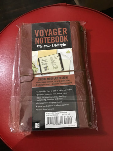 Peter Pauper Press Voyager Notebook Burgundy