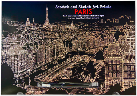 Peter Pauper Press Scratch and Sketch Art Print Paris