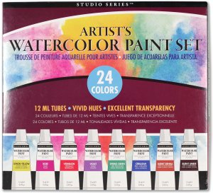 Peter Pauper Press Artist's Watercolor Paint Set