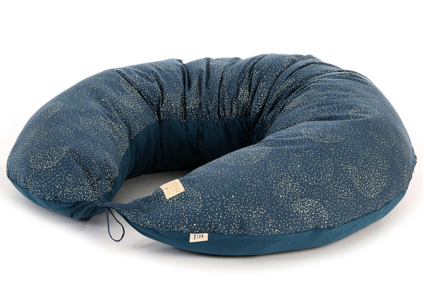 Coussin d'allaitement Luna Gold Bubble – Night Blue