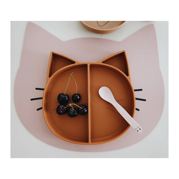 Multi-assiette en silicone - Chat moutarde