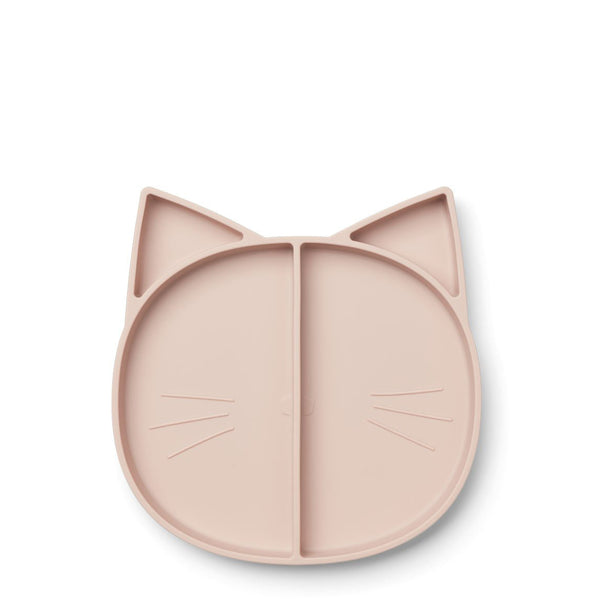 Multi-assiette en silicone - Chat Rose
