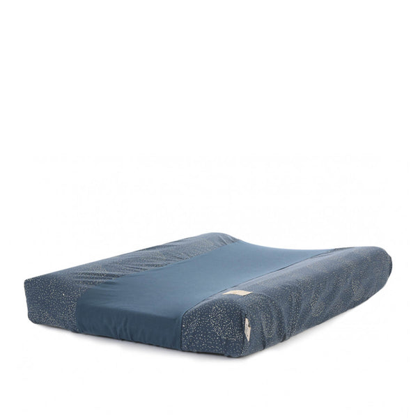 Housse matelas à langer Gold Bubble – Night Blue 70x50