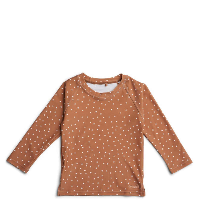 T-shirt Anti-UV Noah - Terracotta pois