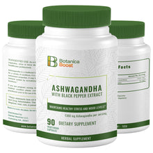 Load image into Gallery viewer, Ashwagandha Natural Root Powder Extract Supplement Capsules (90 Count)