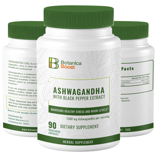 Ash wagandha Natural Root Powder Extract Supplement Capsules (90 Count)