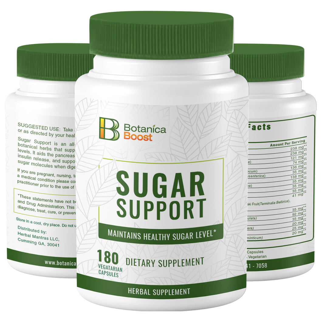Blood Sugar Support Supplement for Healthy Pancreas Function 450mg (180 Capsules)