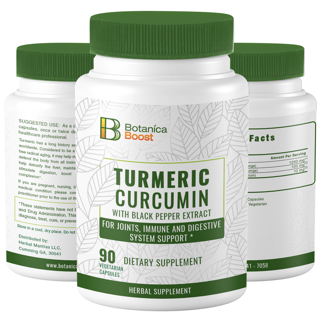 Turmeric Curcumin Supplement for Joint Support (90 Count)