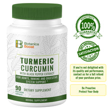Load image into Gallery viewer, Turmeric Curcumin Supplement for Joint Support (90 Count)