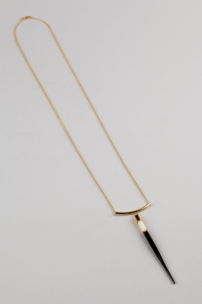 African Quill Arc Necklace