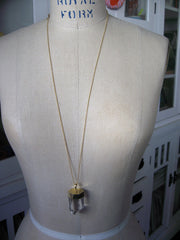 Crystal Necklace - Gold