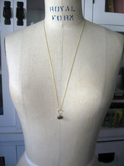 Pyrite Drop Necklace - Gold - New Length Available!