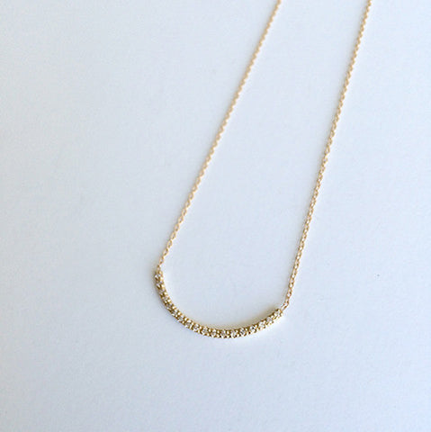 Pavé Thread Arc Necklace - Large