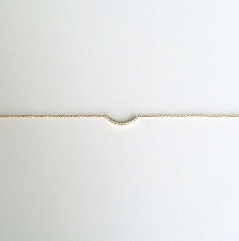 Pavé Thread Arc Bracelet - Small