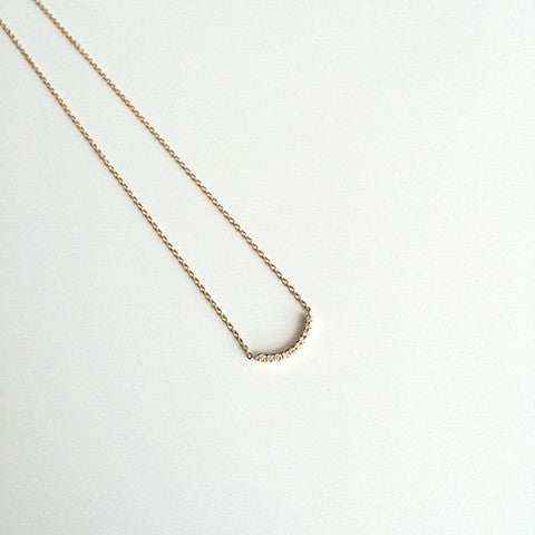 Pavé Thread Arc Necklace - Small