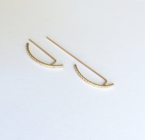 Pavé Thread Arc Ear Hook - Large