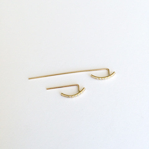 Pavé Thread Arc Ear Hook