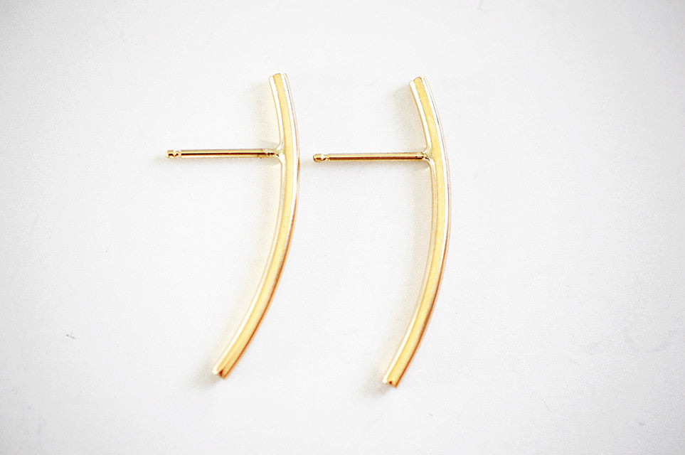 Small Arc Demi Hoop Earring