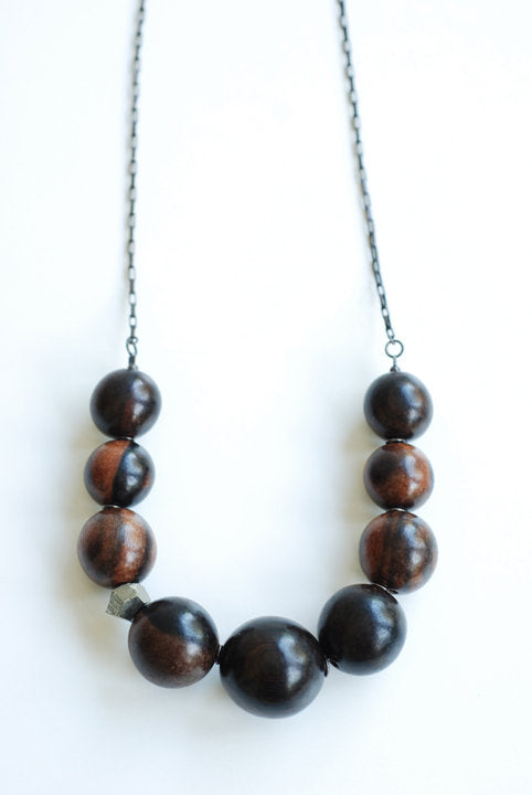 Ebony & Pyrite Necklace