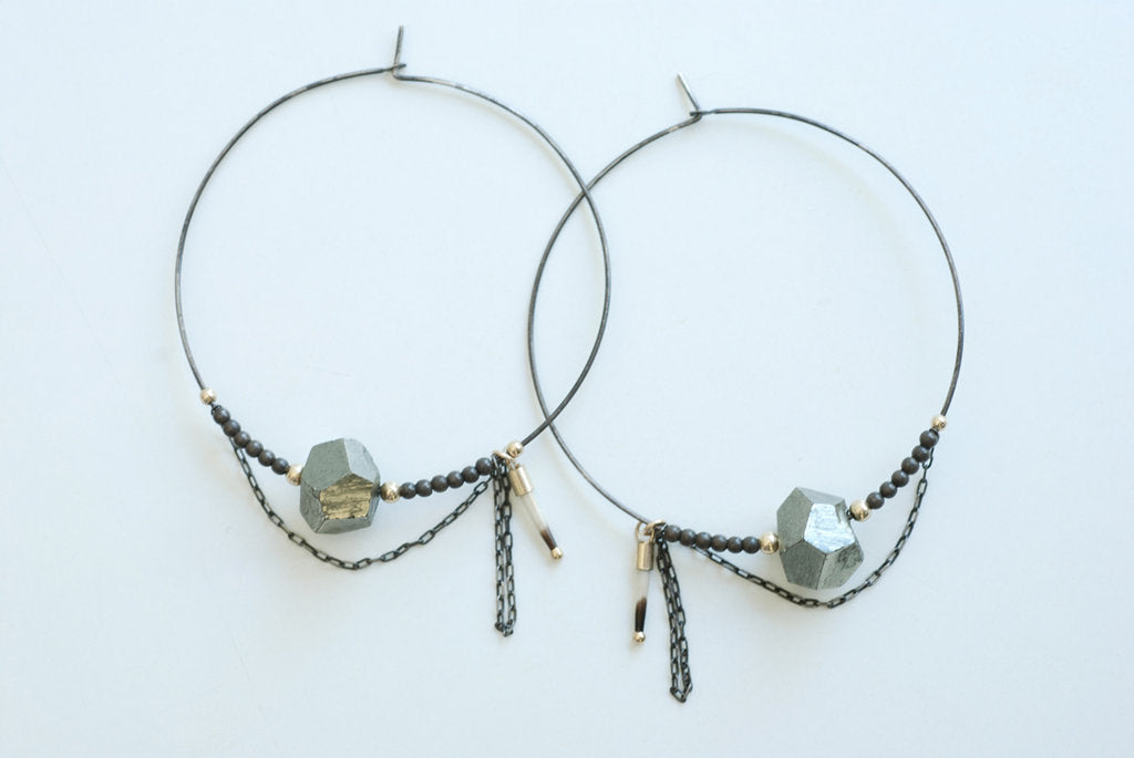 Pyrite and Chain Hoops