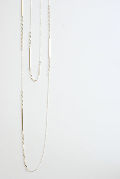Bar and Chain  - Sterling Silver