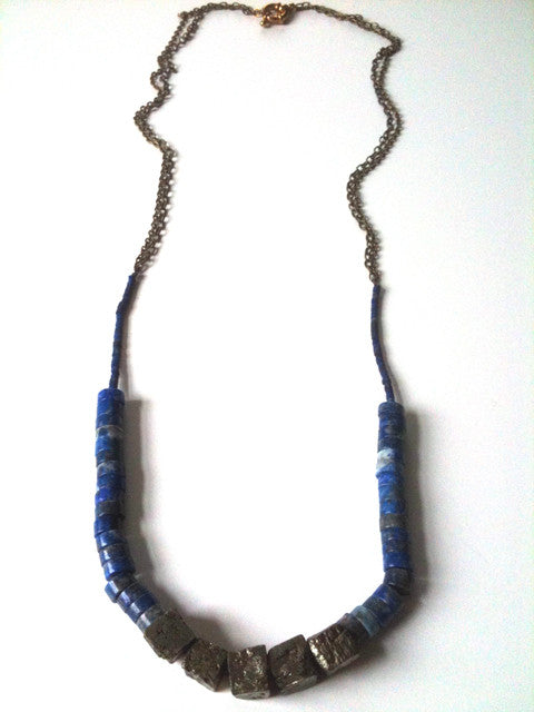 Lapis and Pyrite Necklace