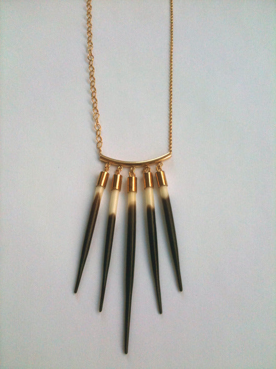 Five Quill Necklace - Small