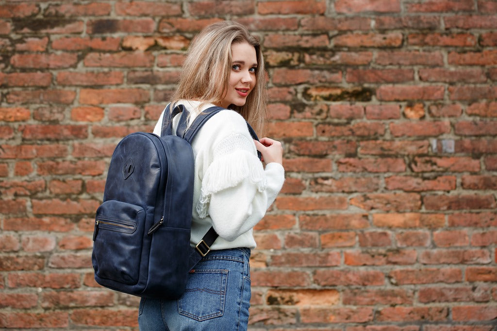 Backpack Leather Men Women