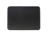 photo of leather macbook sleeve with lining - black